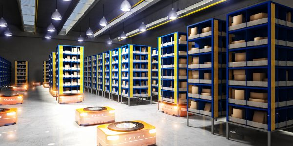 automated modern warehouse 3d image